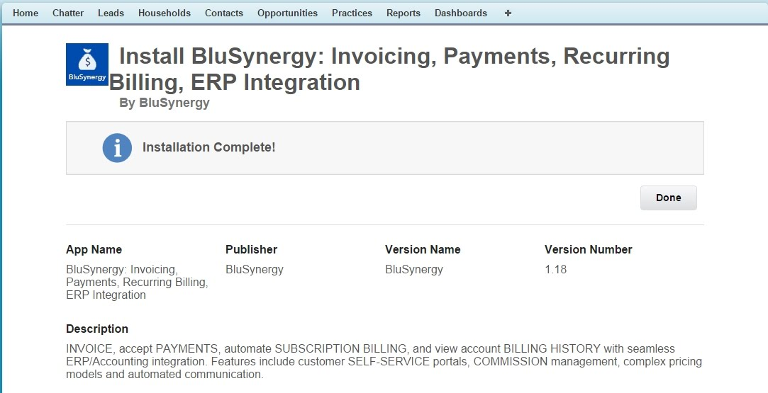 Salesforce recurring payments
